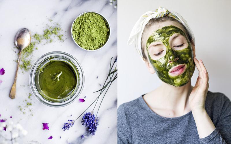 Dùng bột trà xanh để uống không những giúp giảm cân mà còn đem lại làn da sáng mịn