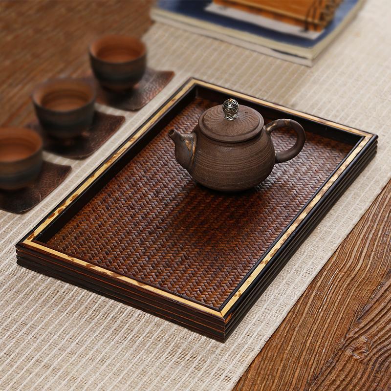 Sự mộc mạc của bàn trà tre