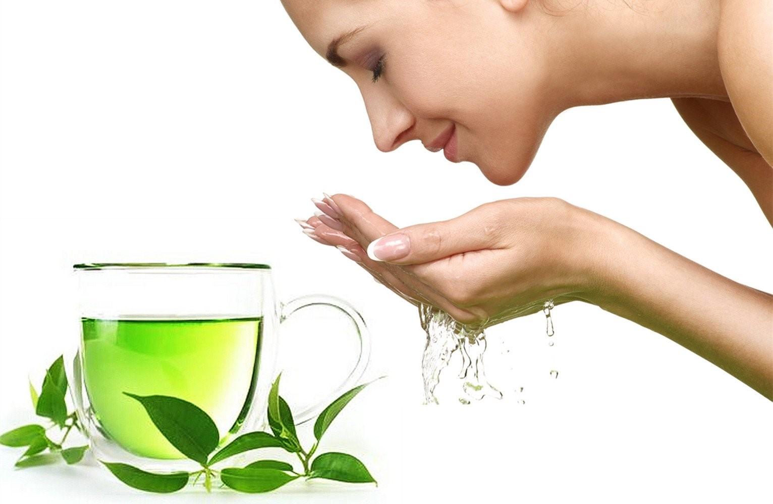 Làm sạch da bằng trà xanh