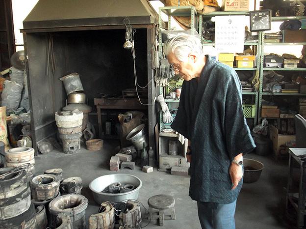 Thợ luyện kim nổi tiếng Koizumi Nizaemon 78 tuổi