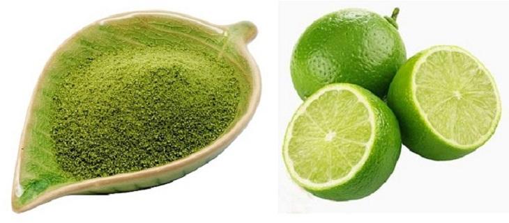 Công thức làm trắng da bằng bột trà xanh với nước cốt chanh